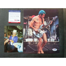 Foto Autografiada Por Flea Con Coa Psa Red Hot Chili Peppers