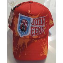 John Cena Gorra Roja Oficial Mod.academia Wwe Danbr68
