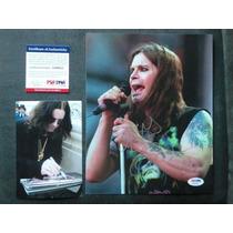 Foto Autografiada Por Ozzy Osbourne Con Coa Psa