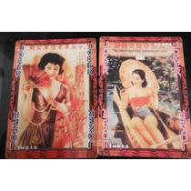 Baraja China Oriental Imagen Mujeres Retro Vintage Coleccion