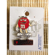 Pin M & M Rojo ( I Love Chocolate ) Original