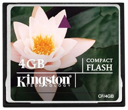 Memoria Compact Flash 4 Gb Kingston Nueva Factura