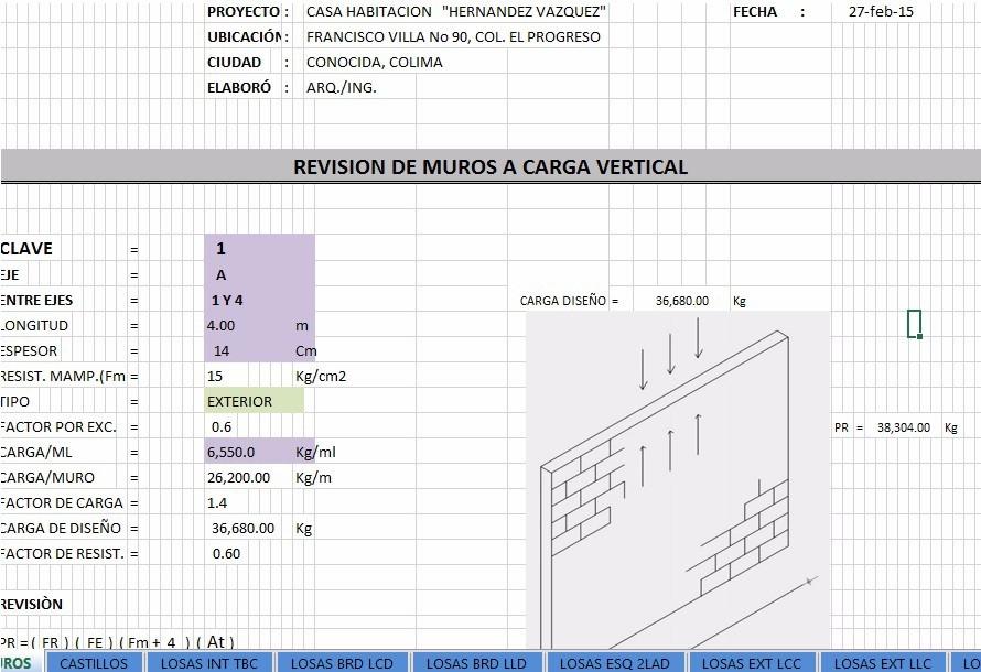 Memoria De Diseño Estructural De Casas Habitación - $ 450 ... - photo#9