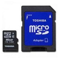 Memoria Toshiba 16 Gb Micro Sd Clase 4 Con Adaptador