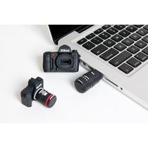 Memoria Usb 16 Gb En Forma De Camara Nikon O Canon ! Regalo