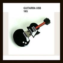Memoria Usb Guitarra 16g, Nueva