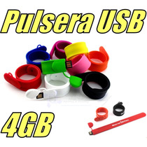 Pulsera Memoria Usb De 4gb Modelo Slap On Llave Usb