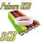 Pulsera Usb 8gb Memoria Varios Colores C Estuche Gratis