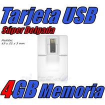 Tarjeta Super Delgada Usb 4gb Slim Data Estuche Gratis