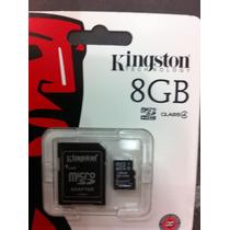 Memoria Micro Sd 8 Gb Sdhc Kingston Para Celulares Camaras