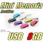 Mini Memoria Usb 8gb Metalica Pulsera Usb / Gratis Estuche