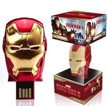 Memoria Usb 8gb Avengers Iron Man Hulk Thor Capitán América