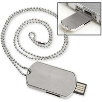 Memorias Usb Placa Metal 8gb Tipo Militar Acero Inoxidable