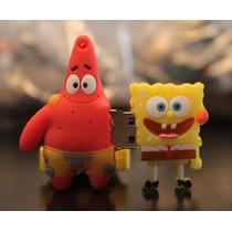 Usb 8gb Figura Bob Sponge And Patricio