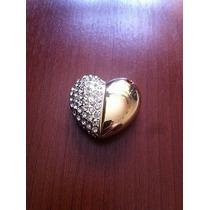 Usb 8gb Figura Corazón Con Pedreria