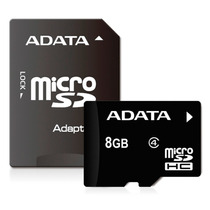 Memoria Adata Micro Sd Hc 8gb Para Celular, Cámara, Tablet!