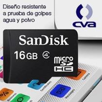 Memoria Sandisk 16gb Micro Sd Clase 4 C/adaptador Sdsdqm-016