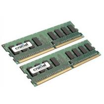 Memorias Crucial 4gb Kit (2gbx2) Ddr2 (pc2-6400) Dimm 240-pi