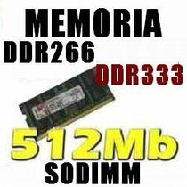 Memoria Ram Sodimm Ddr2 512 Mb Varias Marcas