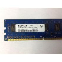 Memoria Ram 2 Gb, Ddr3 1333 Mhz Pc3-10600 Elpida Para Pc