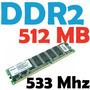 Memoria Ram 512 Mb, Ddr2 533 Mhz Pc2-4200 Para Pc Varias