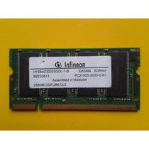 Memoria Ram Laptop 256mb Infineon Ddr 100s