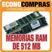 Memorias Ram De 512 Mb Varias Marcas Semi Nuevos