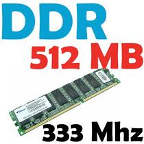 Memoria Ram 512 Mb, Ddr 333 Mhz Pc-2700 Para Pc Garantizadas