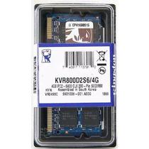4gb Memoria Sodimm Ddr2 800mhz Kingston Laptop Kvr800d2s6/4g