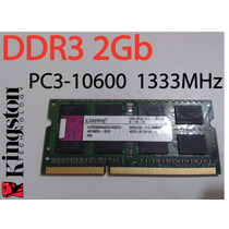Memoria Ram Ddr3 2gb Pc3-10600 1333mhz Kingston Para Laptop