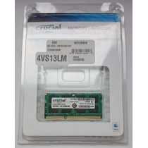 Memoria Certificada Para Mac 4gb Crucial Ddr3-1333 Mhz Apple