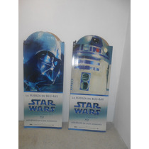 Star Wars Lote De 2 Display Vader/r2d2 Y C3po/yoda
