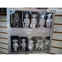 Star Wars Calcomanías Decorativas Para Auto Familiar