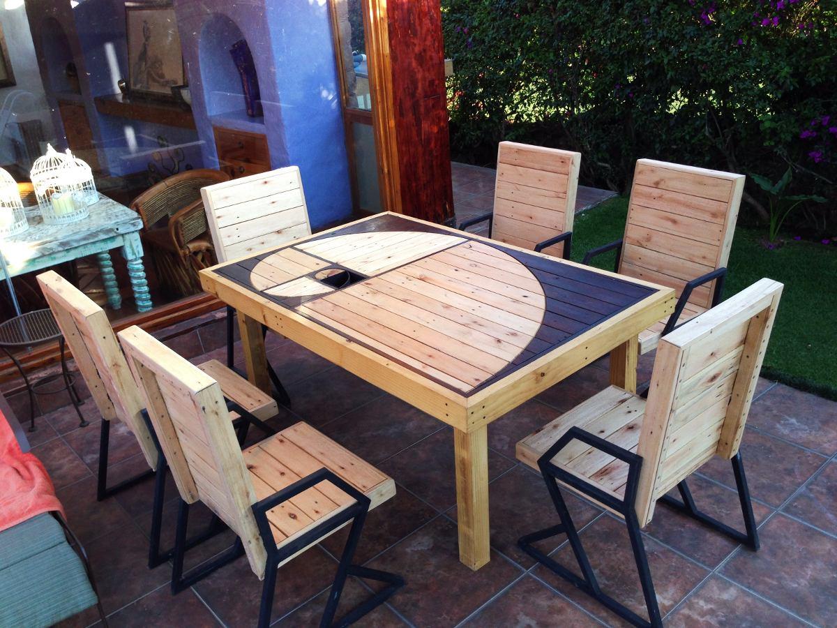 Mesa comedor de madera reciclada dise o espiral exclusivo - Mesas madera diseno ...