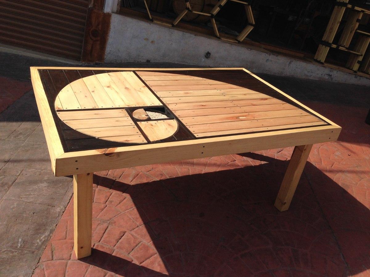 mesa comedor de madera reciclada dise o espiral exclusivo