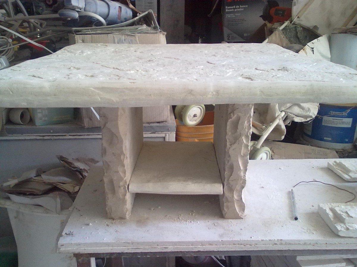 Mesa de centro de piedra laja blanca galarza 1 - Mesas de piedra para exterior ...