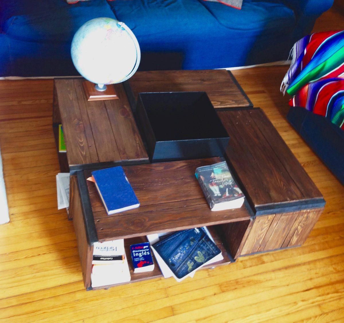 Mesa de centro huacalli de madera reciclada 4 - Mesas madera reciclada ...