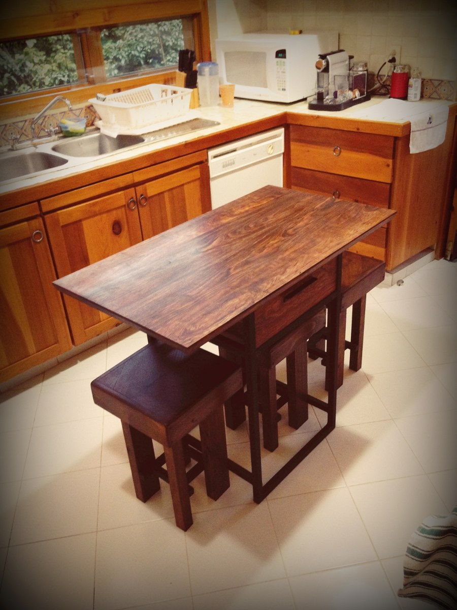Mesa de cocina madera tropical chechen 4 en - Mesas cocina madera ...