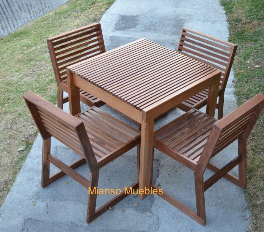 Mesa madera exterior ideas de disenos for Mesa de picnic madera
