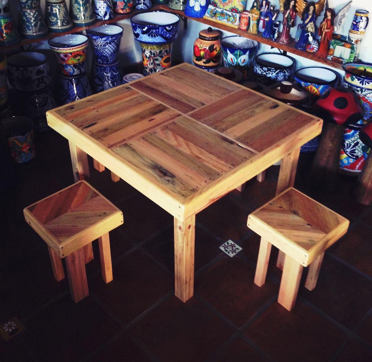 Mesa de tarima madera reciclada 2 en mercadolibre for Muebles para tv con tarimas