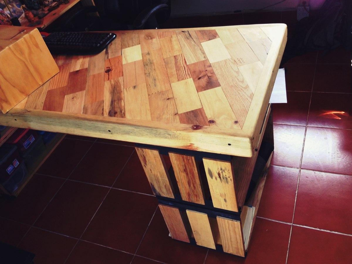Mesa escritorio con madera reciclada 2 en - Mesa escritorio madera ...