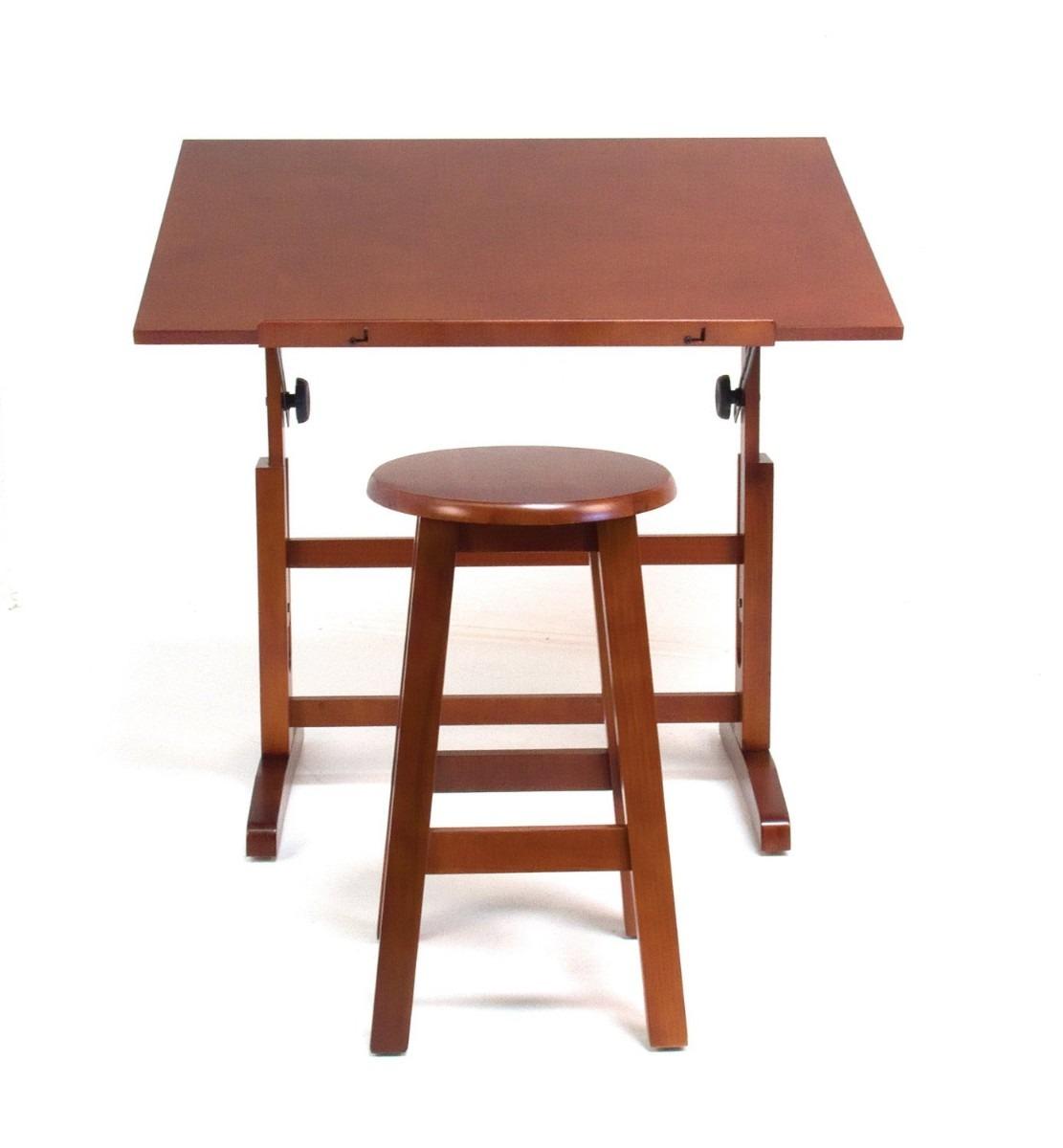 Mesa para dibujo artistico con silla escritorio dibujar for Costo de sillas para escritorio