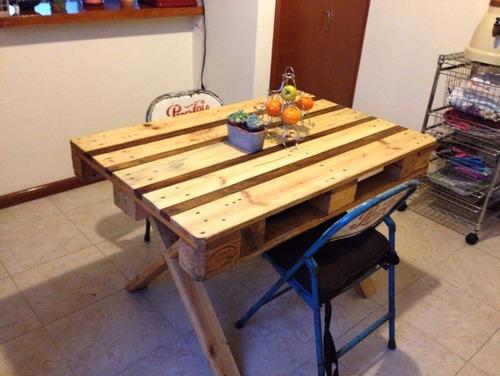 Mesa comedor picnic 4 pers para exterior de madera for Mesa comedor exterior