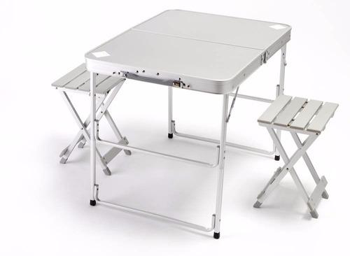Mesa portatil plegable aluminio ultra ligera 2 personas for Mesa plegable aluminio
