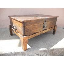 Baúl Rústico Mesa De Centro.madera De Pino.excelente Calidad