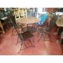 Mesa Comedor Fabricado En Forja Y Azulejo.