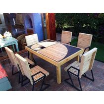 Mesa Comedor De Madera Reciclada,diseño Espiral Exclusivo