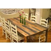 Mesas Comedor Rústicas Vintage Sustentable Atu Medida 8 Pers