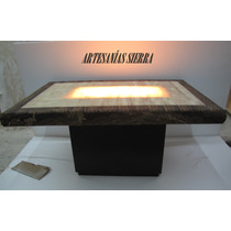 Comedor De Onix Piña 1.50x1.00 Mto. P/ 6 Personas, Iluminado