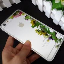 Micas Cristal Templado Iphone 6+ 5 Frontal Y Trasera Espejo